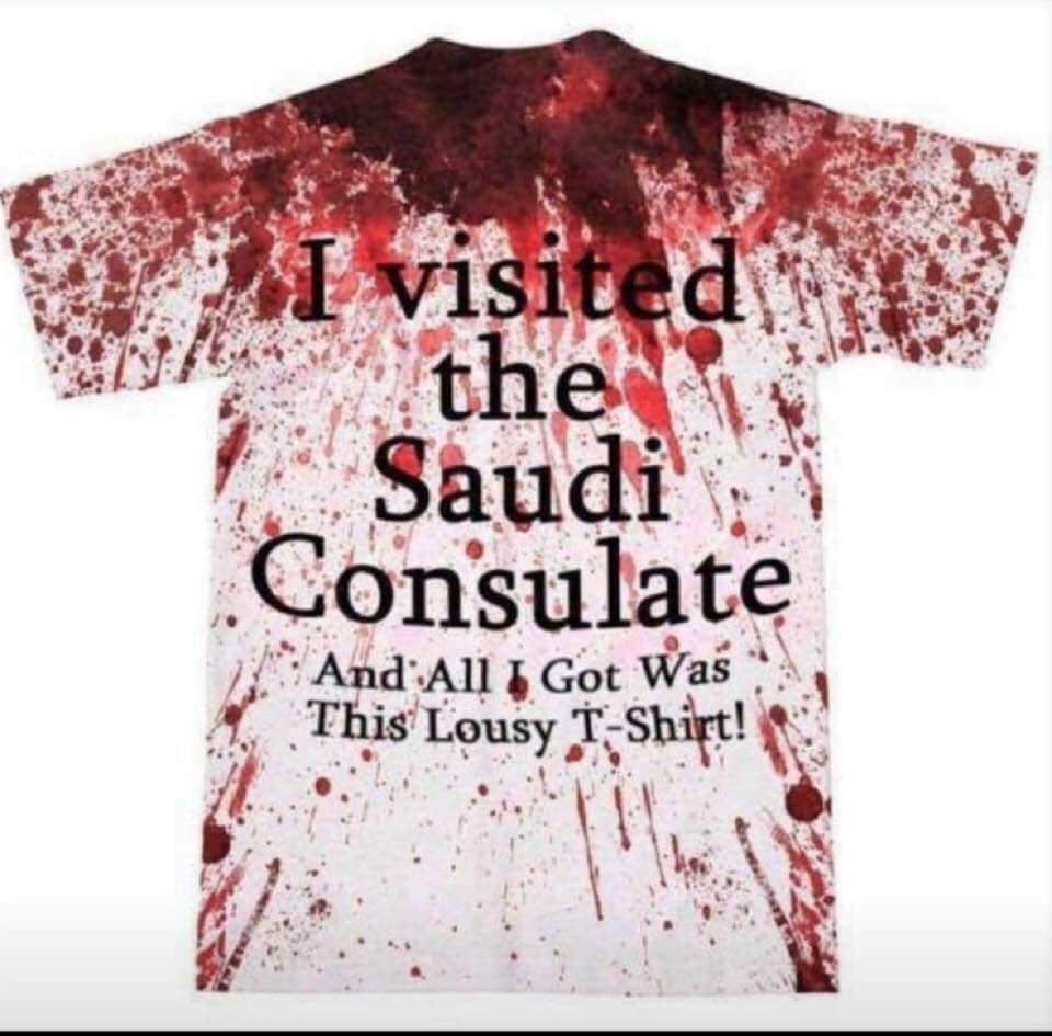 i visited the saudi consulate and all i get was this lousy t-shirt!
