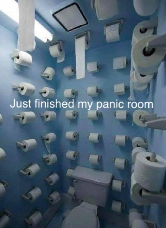 Just finished my panic room.
