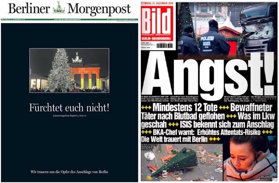 Berliner Morgenpost vs. Bild | via https://twitter.com/textautomat