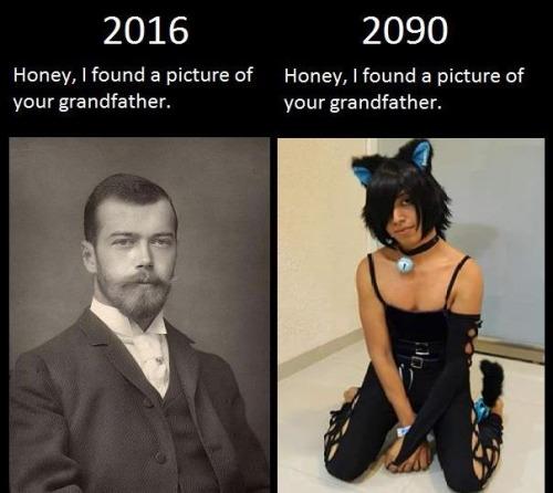 der unterschied - ich hab ein bild deines großvaters gefunden.