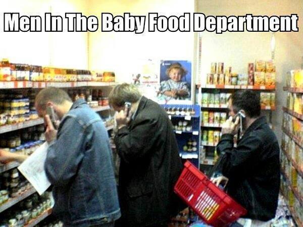 männer beim einkaufen - so siehts mal aus.