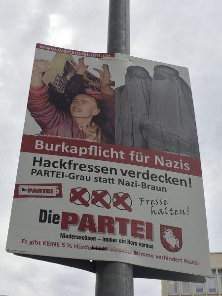 Burkapflicht für Nazis - Hackfressen verdecken! | @die partei
