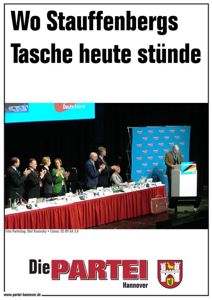 Nachdem die AfD-Fraktion im Thüringer Landtag am 20. Juli der Meinung war, Stauffenberg für ihre Ideologie zu vereinnahmen, was wiederum irgendwie wieder hinhaut, hier eine kleine Lektion in Sachen Geschichte für die Alte Naive. | #48531