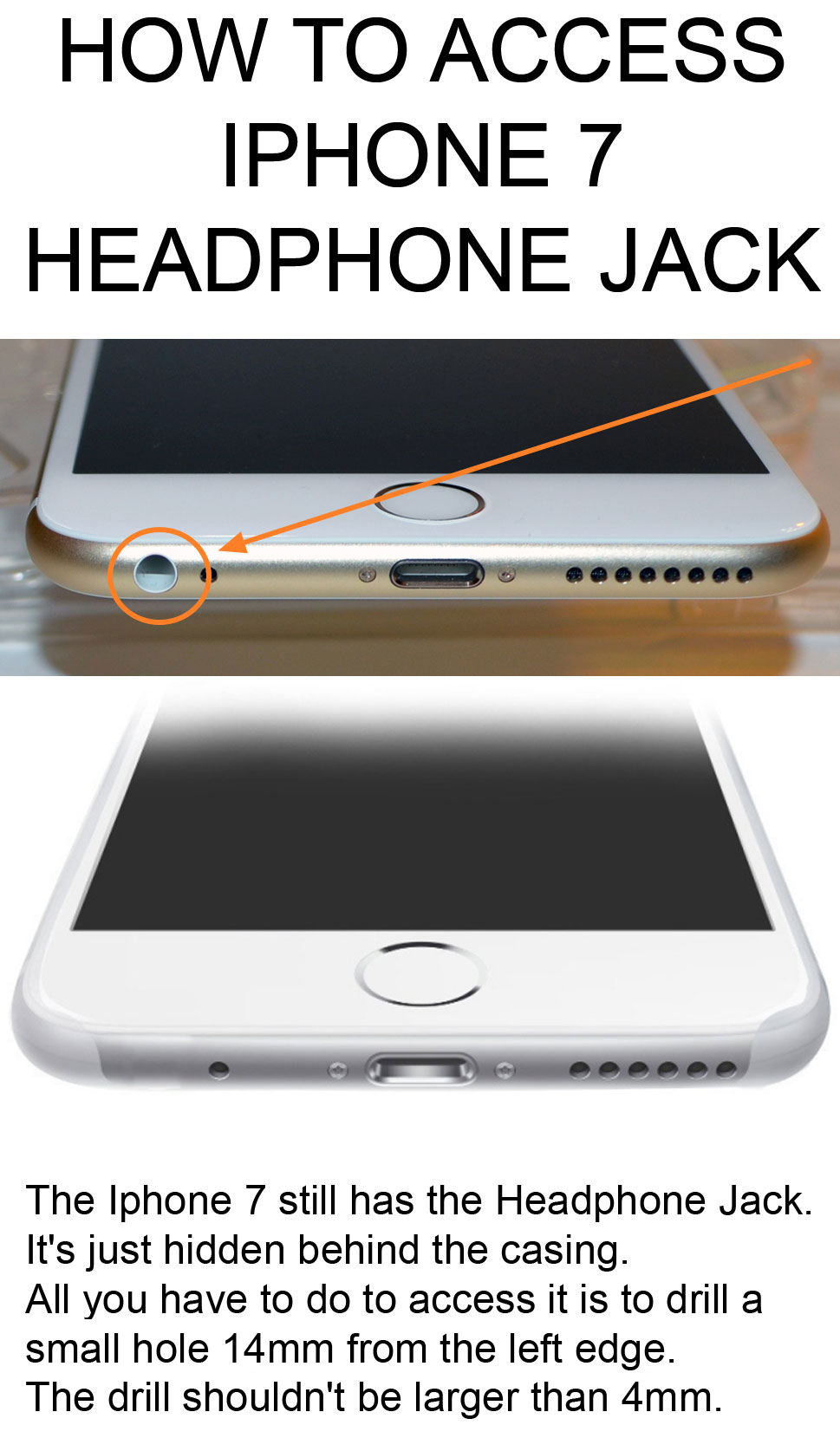 How to access iphone 7 headphone jack?
