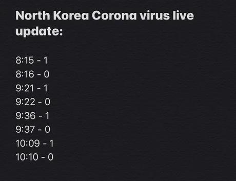 North Korea Coronavirus live update