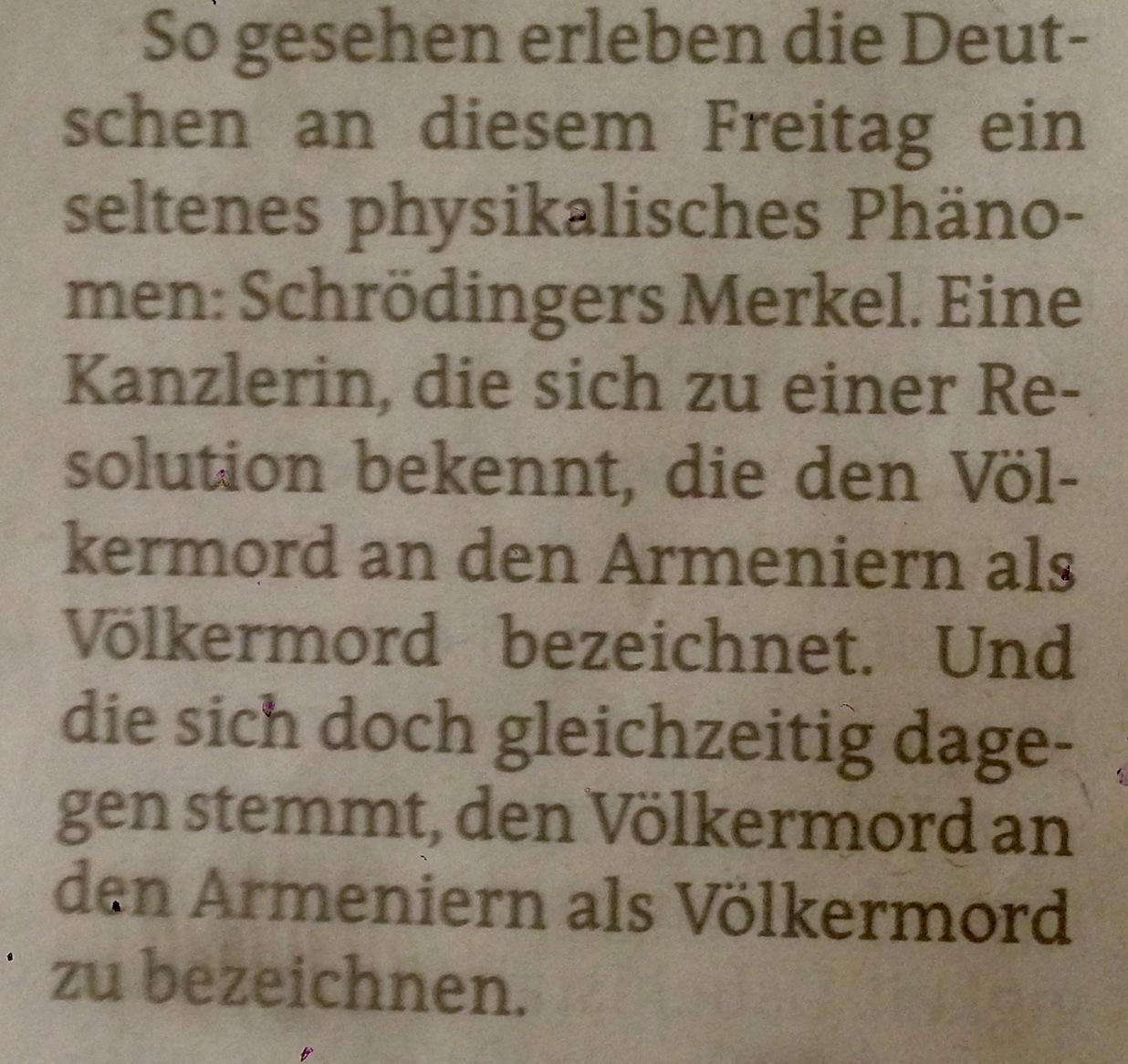 Schrödingers Merkel.   https://de.wikipedia.org/wiki/Schr%C3%B6dingers_Katze   @taz
