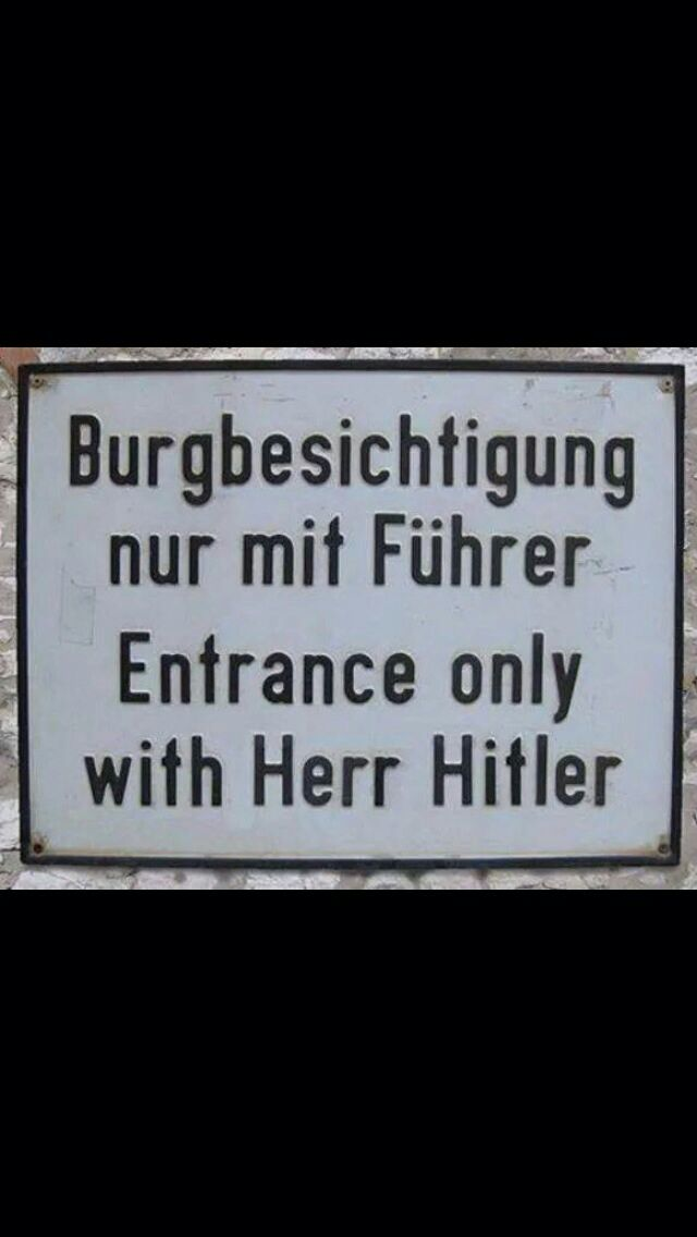 Burgbesichtigung nur mit Führer.