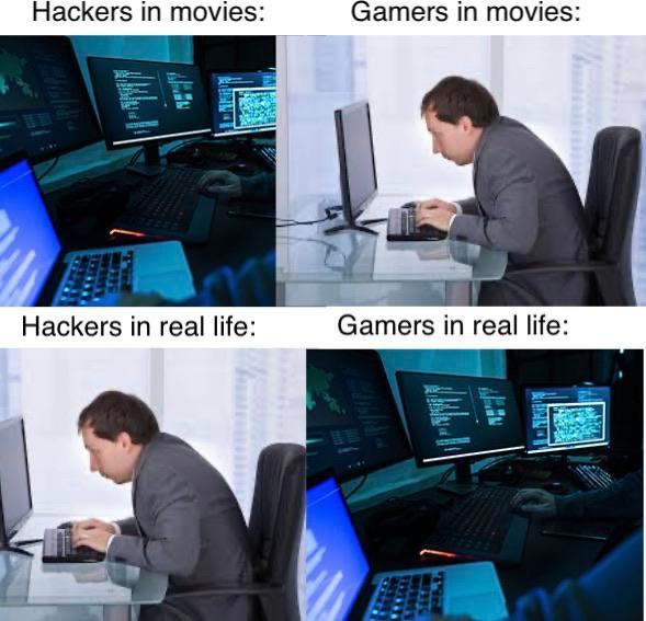 Hackers & Gamers in movies vs. real life
