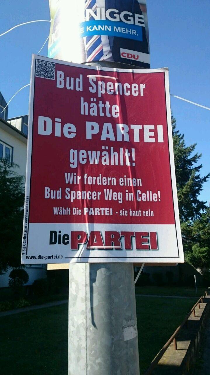 bud spencer hätte die partei gewählt. | @die partei