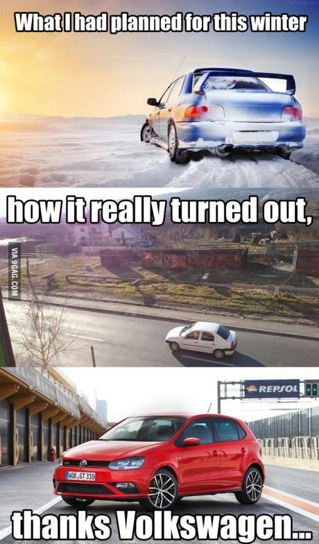 Volkswagen, dem Auto recht nah.