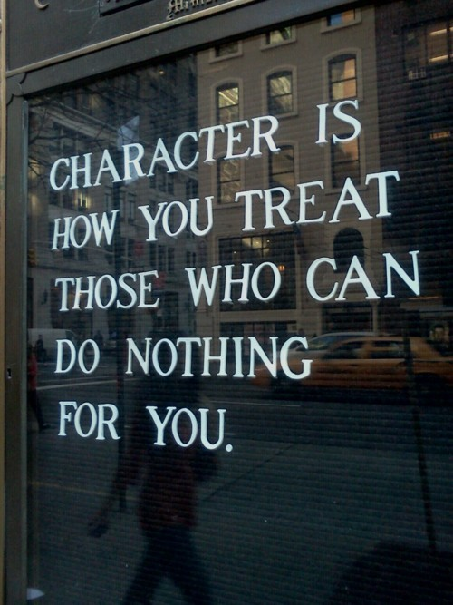 character is ...