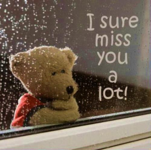 i sure miss you a lot!