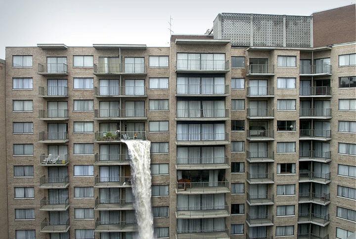 Badezimmer geflutet - dennoch irgendwie lustig