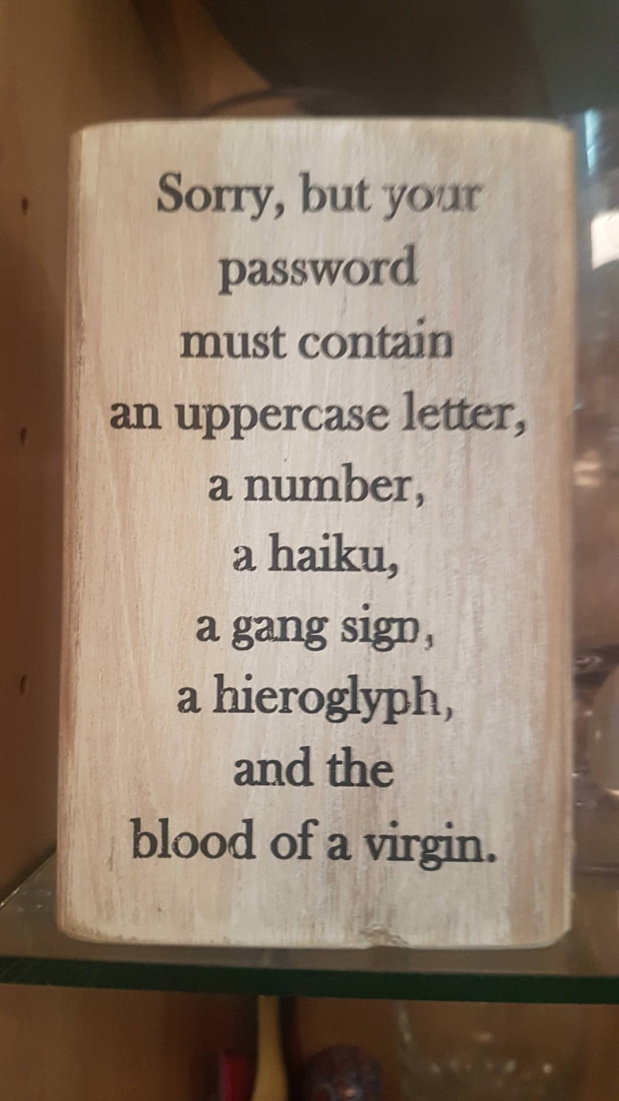 Richtlinien für Passworte.