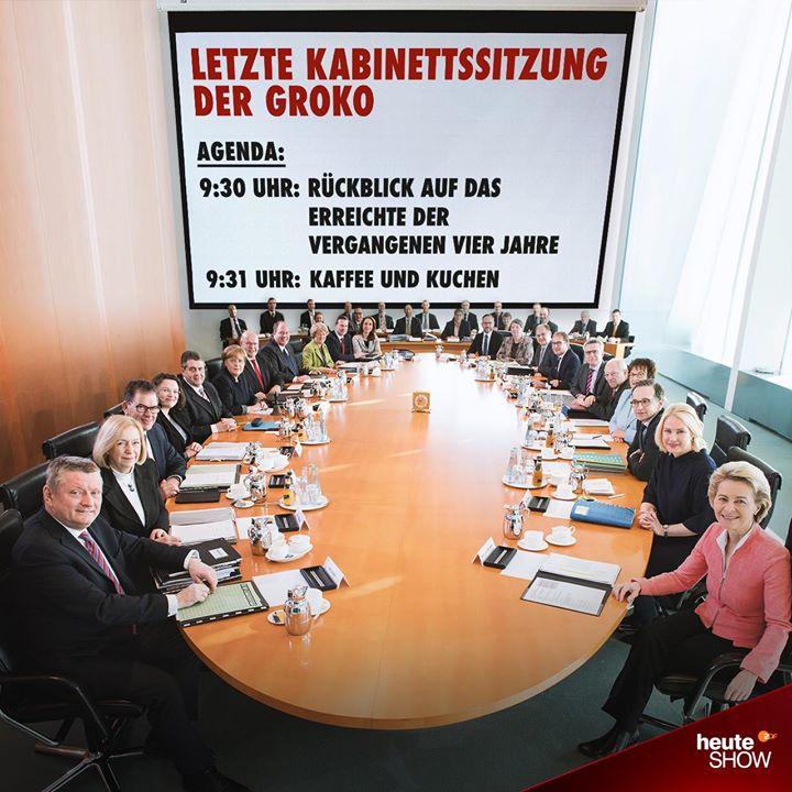 Letzte Kabinettssitzung der GroKo 2017