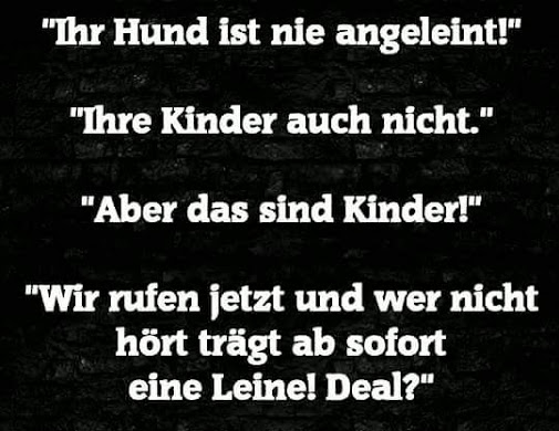 kinder an die leine ... deal?