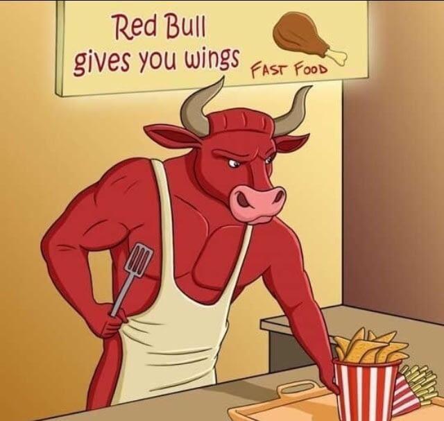 Red Bull verleiht Flügel.