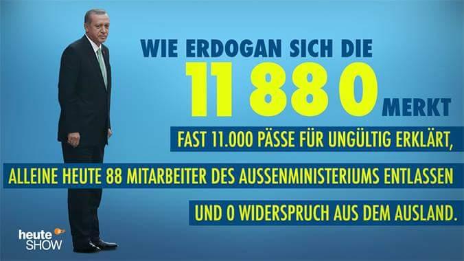 wie erdogan sich die 11 88 0 merkt.