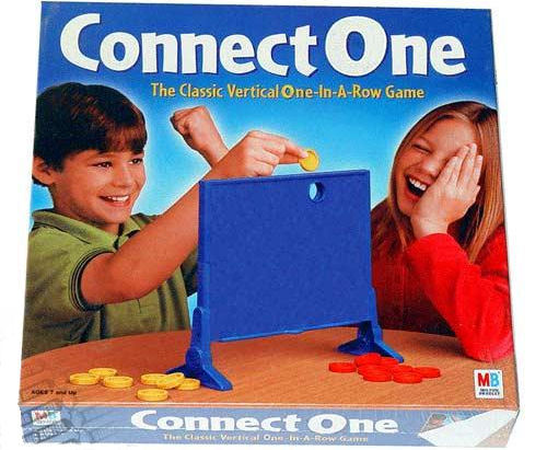 Connect One - the classic vertical one-in-a-row game.