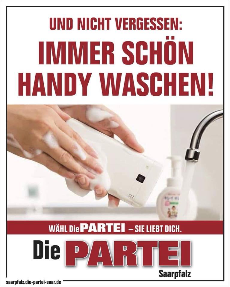 Immer schön Handy waschen!