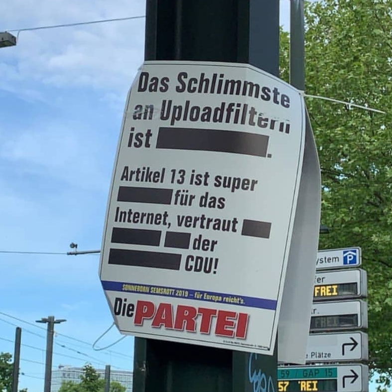 Artikel13 / Die Partei
