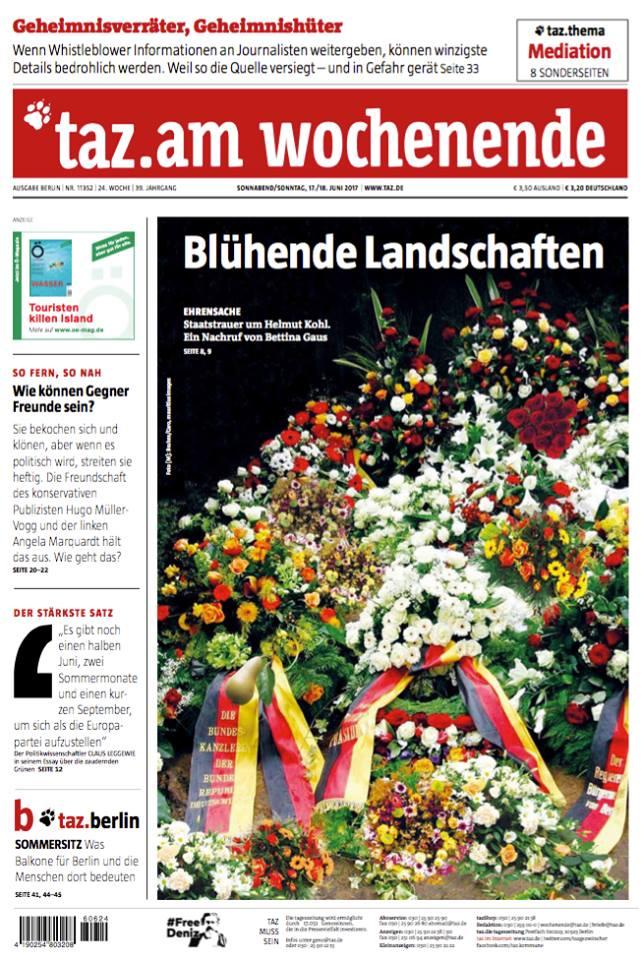 Blühende Landschaften - Staatstrauer um Helmut Kohl.