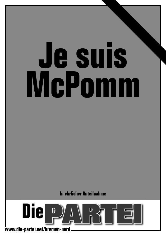 Je suis McPomm | @die partei