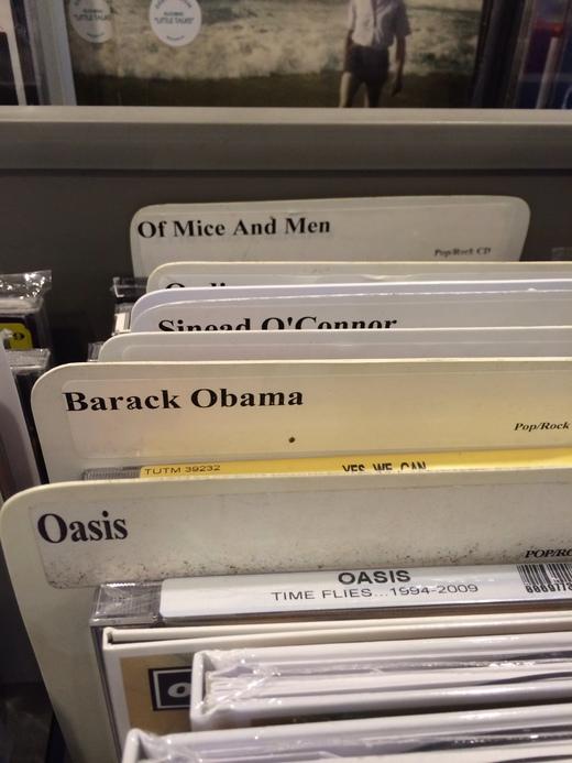 endlich, obamas neues album.