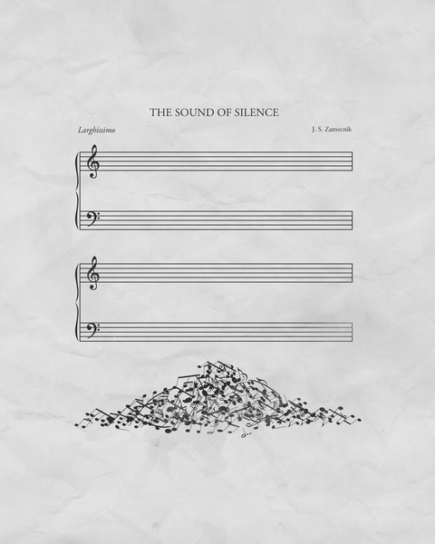 """""""the sound of silence"""" - notation."""