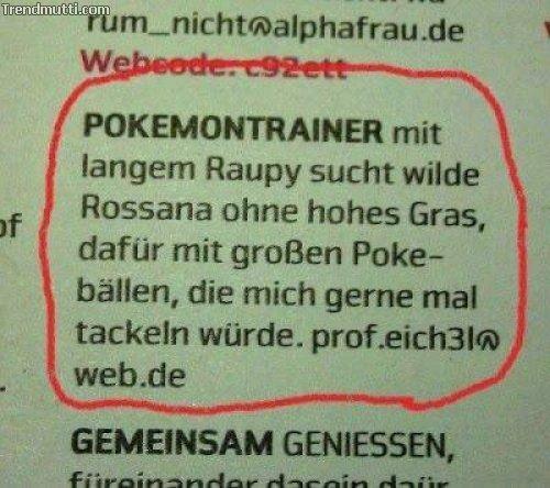 pokemon-trainer sucht ...