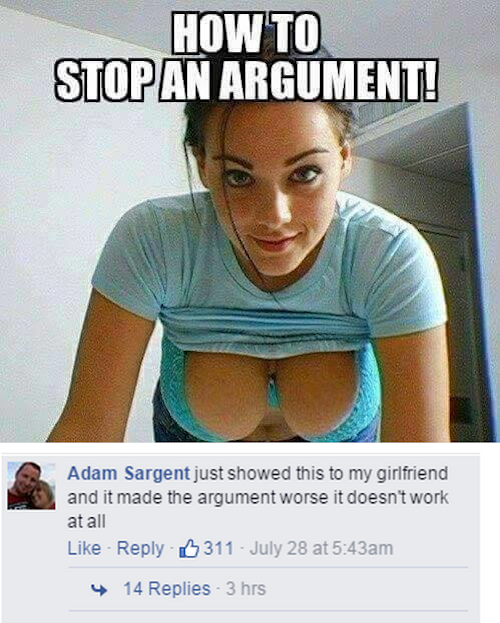How to stop an argument! | Doesnt work at all.