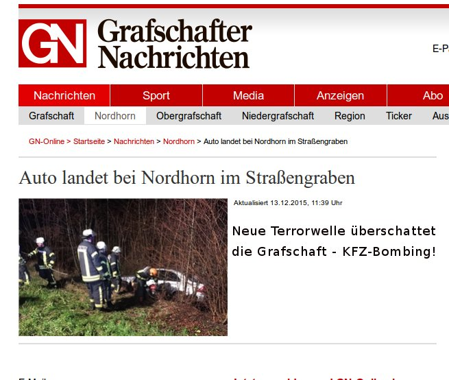GN-News | Erste Anschläge in der Grafschaft Bad Bentheim!