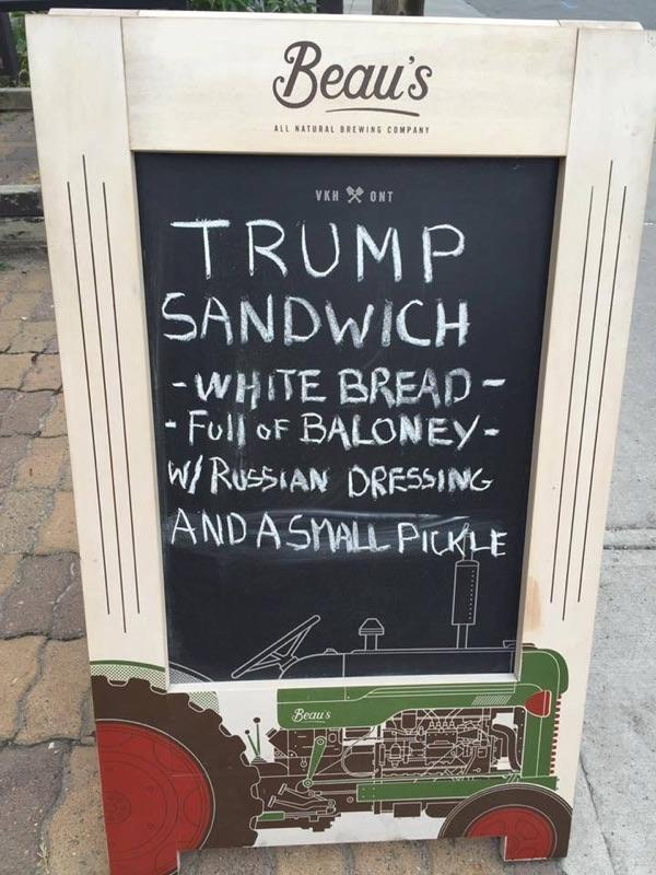 Trump Sandwich ... and a small pickle