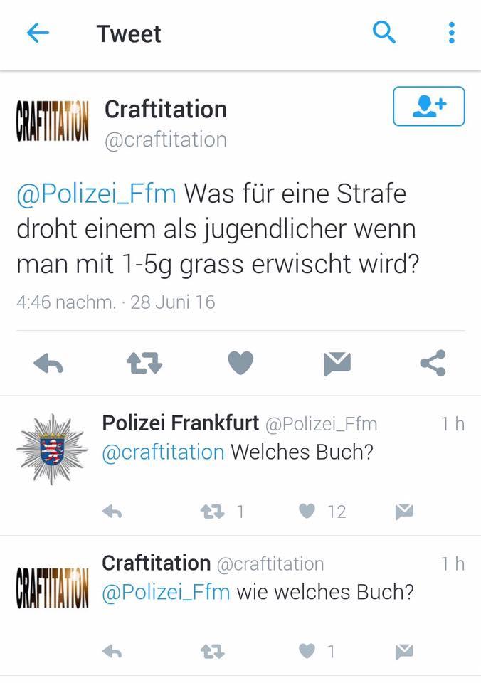 ja, gibt schlaue reaktionen ... sogar von der polizei