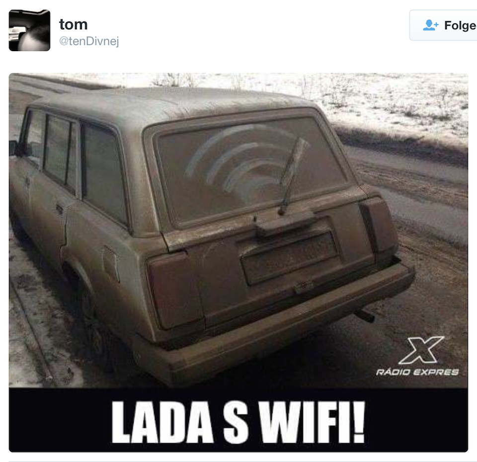 lada's wifi | https://twitter.com/tenDivnej/status/667590410882166784