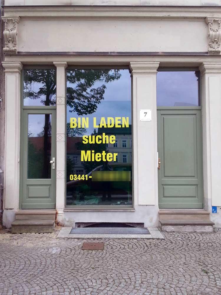 Bin Laden suche Mieter!