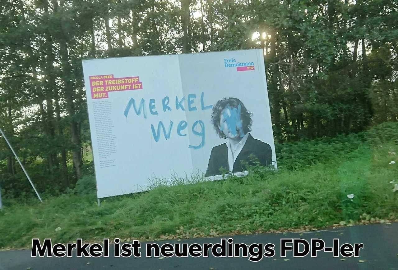 Merkel ist neuerdings FDP, der Lindner-Effekt.
