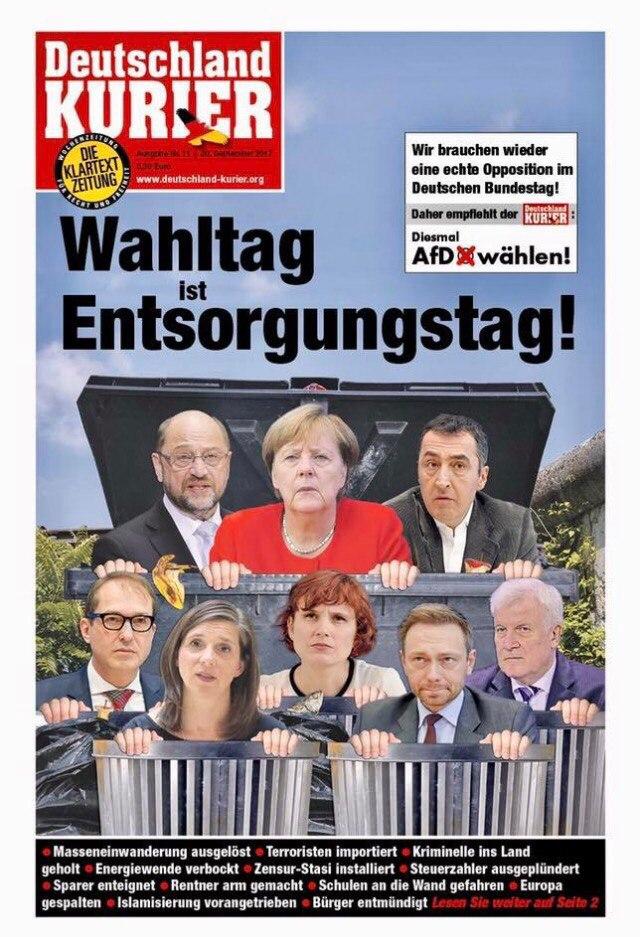 Wahltag ist Entsorgungstag! | Schönes Beispiel für stumpfe PR ... http://www.deutschland-kurier.org/