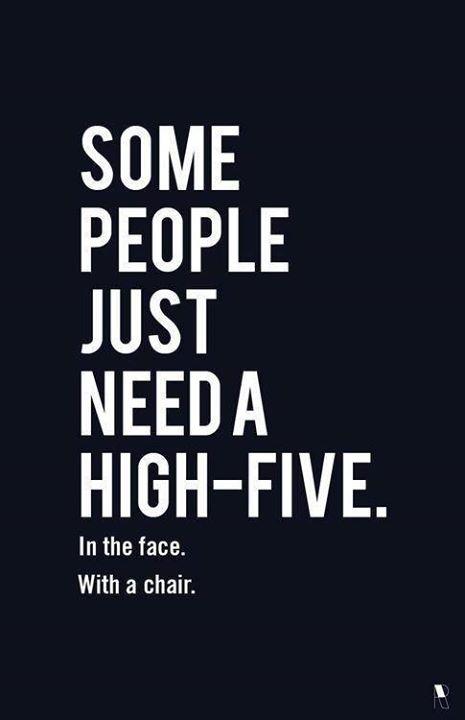 *high-five