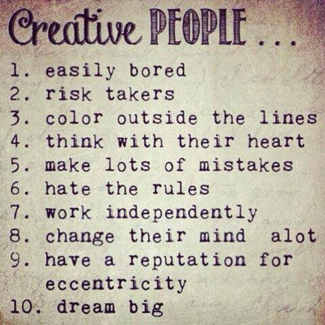Creative People ...