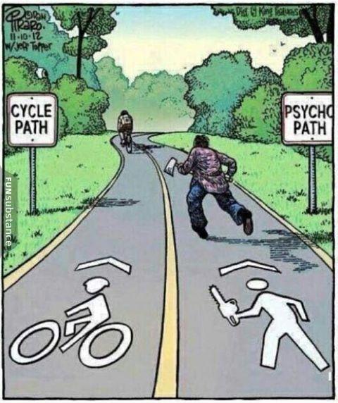 cycle path | psychopath