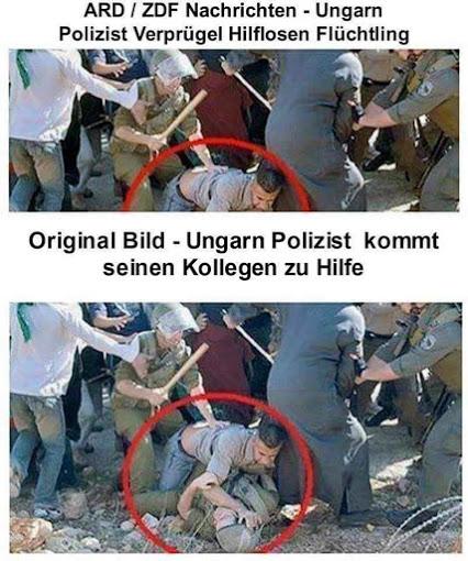 ARD / ZDF Nachrichten - Ungarn Polizist verprügelt hilflosen Flüchtling | Original Bild - Ungarn Polizist kommt seinen Kollegen zu Hilfe