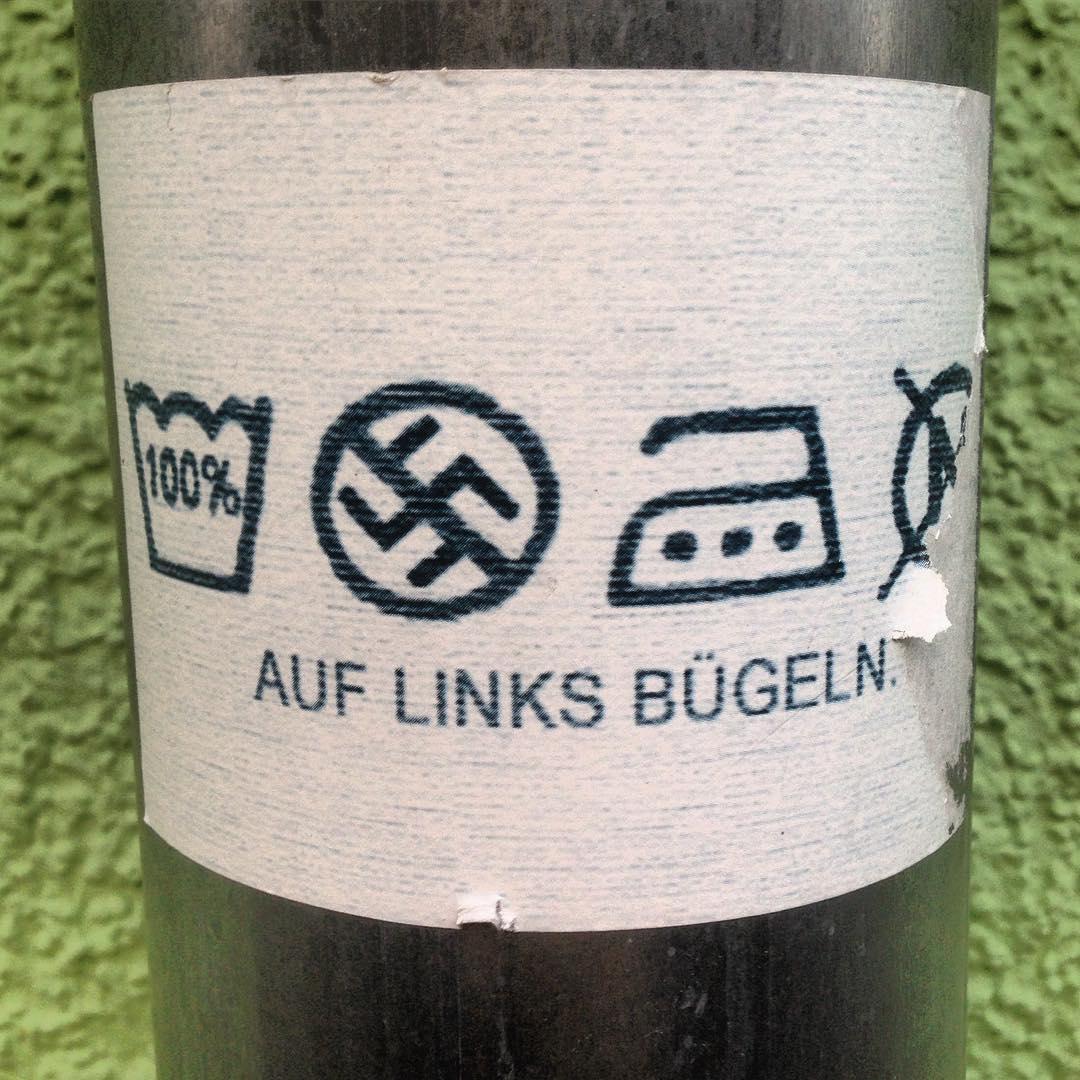 Auf Links bügeln. | https://www.instagram.com/p/BJ7d_vLhOZs/?tagged=streetarthannover