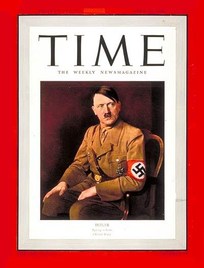 mann des jahres 1938 des time magazines - adolf hitler