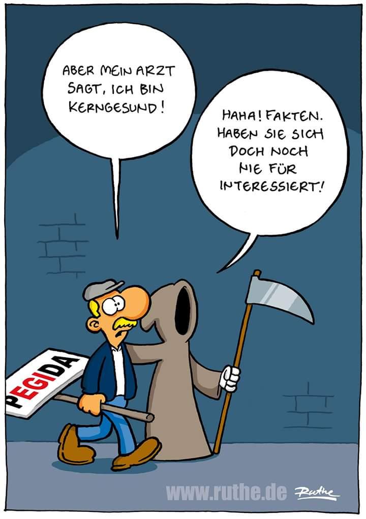 pegida - ungesund | http://ruthe.de