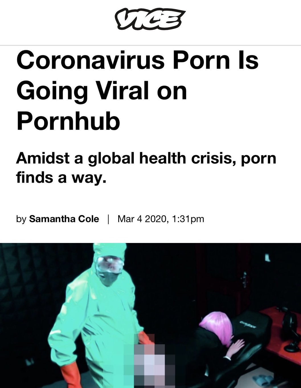 Coronavirus-Porn is going viral on Pornhub.