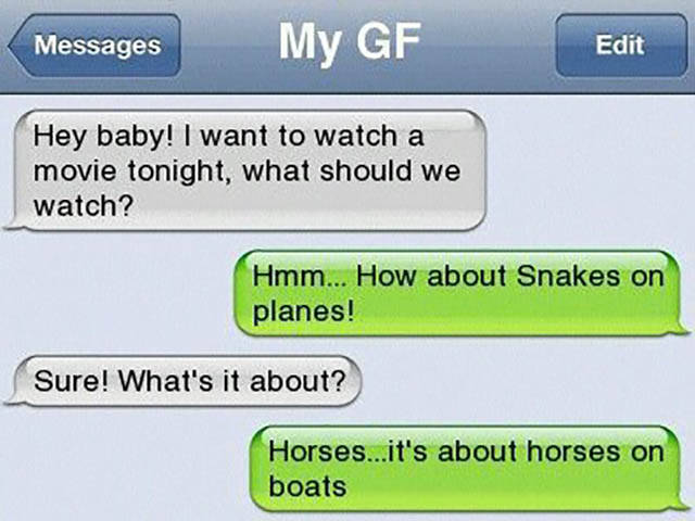 How about snakes on planes?