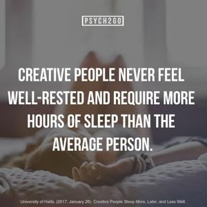 creative people never feel well ...   unterschreiben wir!