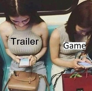 trailer vs. game