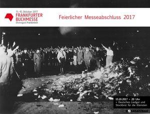 Deutschland sagt danke. Danke, für die Frankfurter Buchmesse. Zum Abschluss möchten wir mit euch allen den feierlichen Abschluss zelebrieren. Es gibt deutsches Liedgut und Stockbrot für die Kleinsten. Heute um 20 Uhr wird es heimelig. Bringt Fackeln mit.
